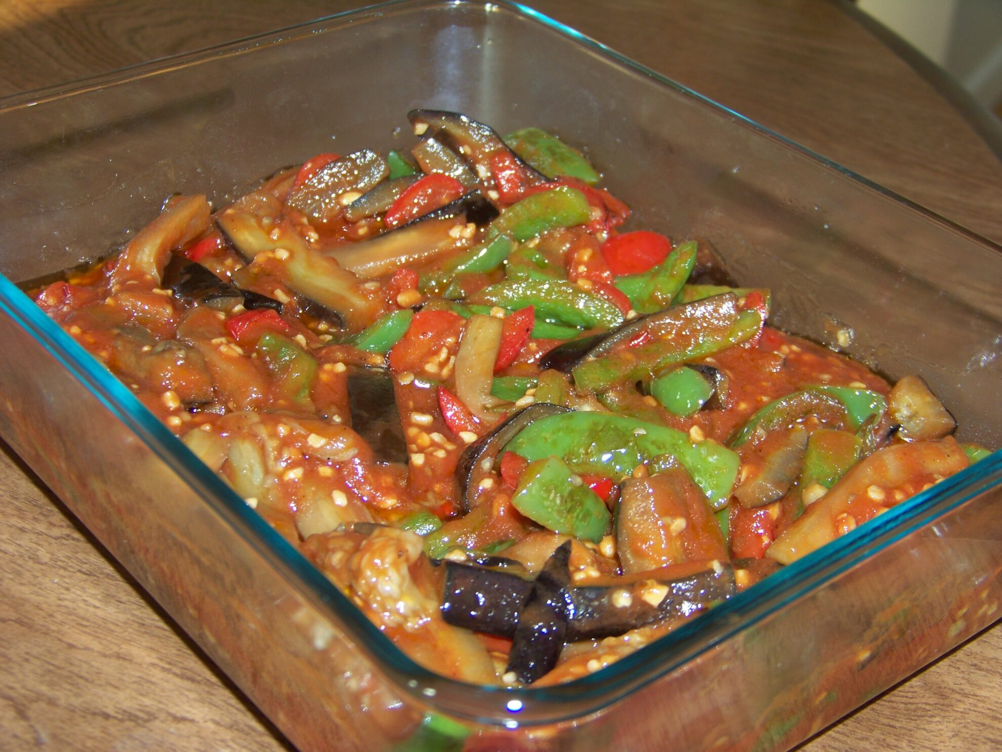 Eggplant and Peppers in Tomato Sauce   Low Carb Yum