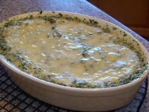 Low Carb Tuna Spinach Bake