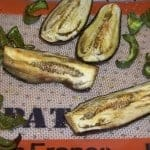 Easy Oven Roasted Eggplant and Green Peppers
