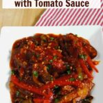 Eggplant pepper recipe with tomato sauce