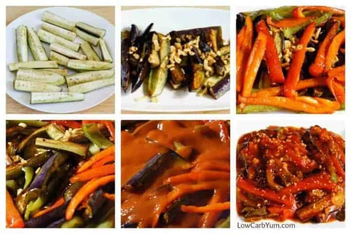 Eggplant pepper recipe with tomato sauce