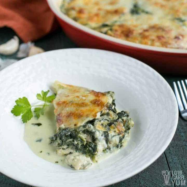 An easy cheesy low carb tuna casserole recipe for keto.
