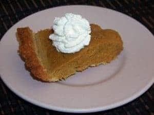 Almond Milk Pumpkin Pie