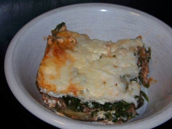 No Noodle Spinach Meat Lasagna | Low Carb Yum
