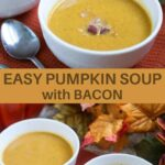 Easy low carb pumpkin soup with bacon
