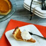 Low carb almond milk pumpkin pie