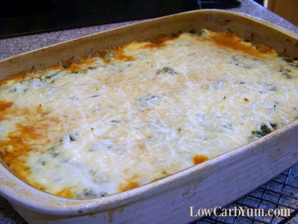Spinach and Meat Lasagna without Noodles