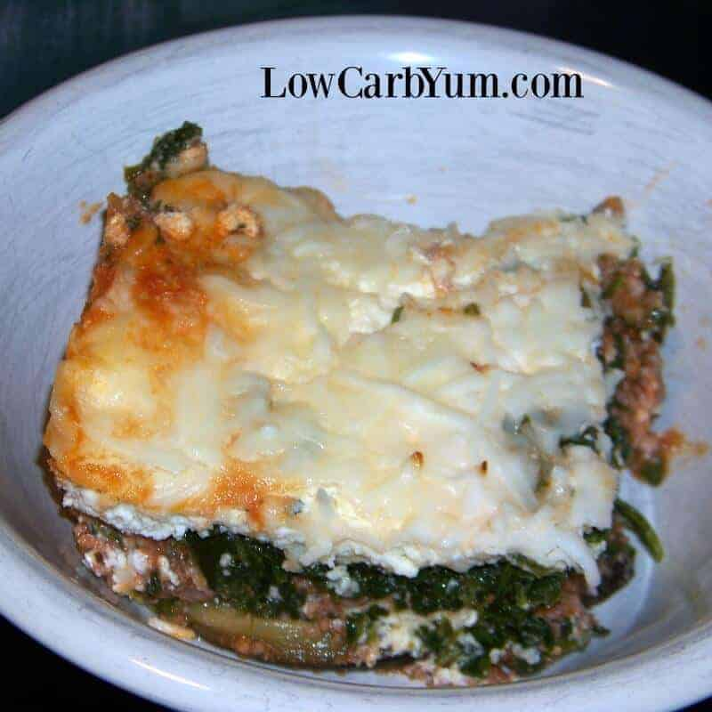Spinach And Meat Lasagna Without Noodles Low Carb Yum
