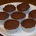Peanut Flour Chocolate Cupcakes