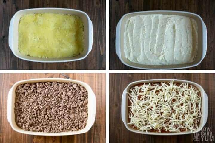 casserole layers