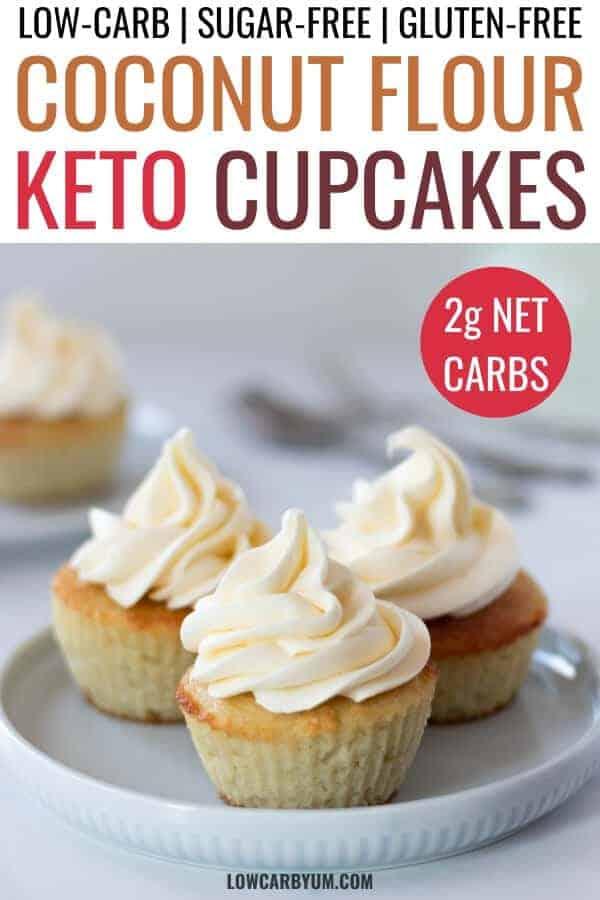 keto coconut flour cupcakes recipe