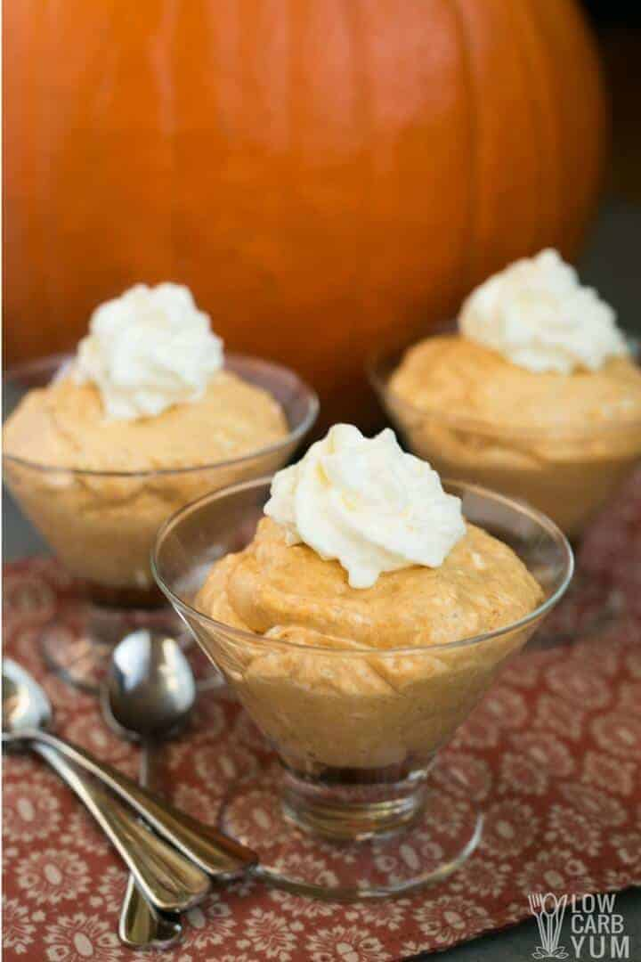 Keto low carb pumpkin mousse