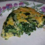 Crustless Spinach Cheese Pie