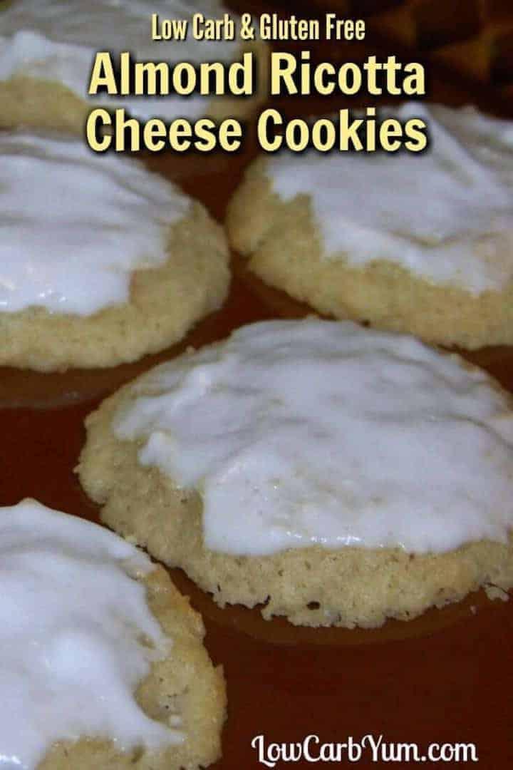 Gluten free almond ricotta cheese cookies
