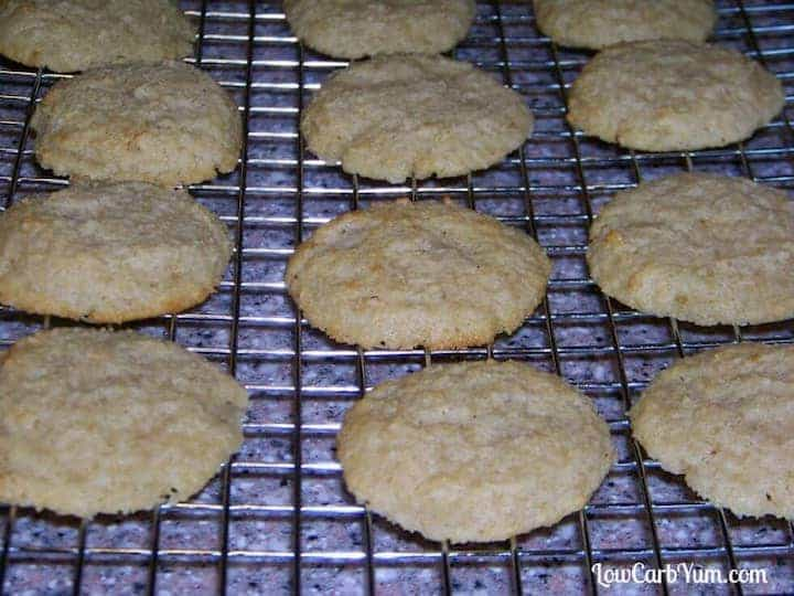 Making low carb almond ricotta cheese cookies
