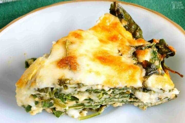 easy crustless spinach cheese pie