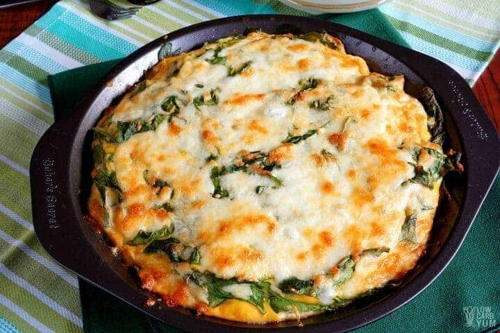 Low carb crustless spinach cheese pie
