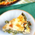 Crustless spinach cheese pie