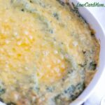 Keto cauliflower mashed potatoes with spinach