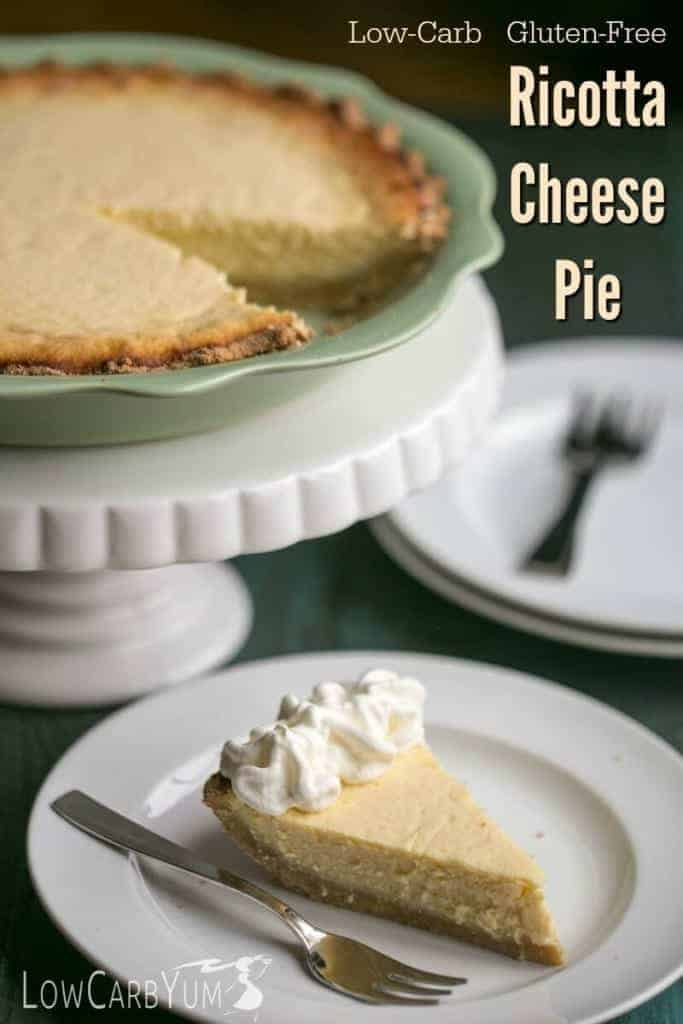 This low carb gluten free sweet ricotta cheese pie is a delicious recipe that is a must try. Great to make during the holiday season or whenever your craving something rich.