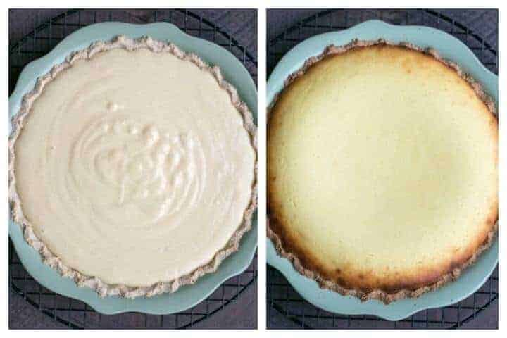 Low carb gluten free ricotta cheese pie