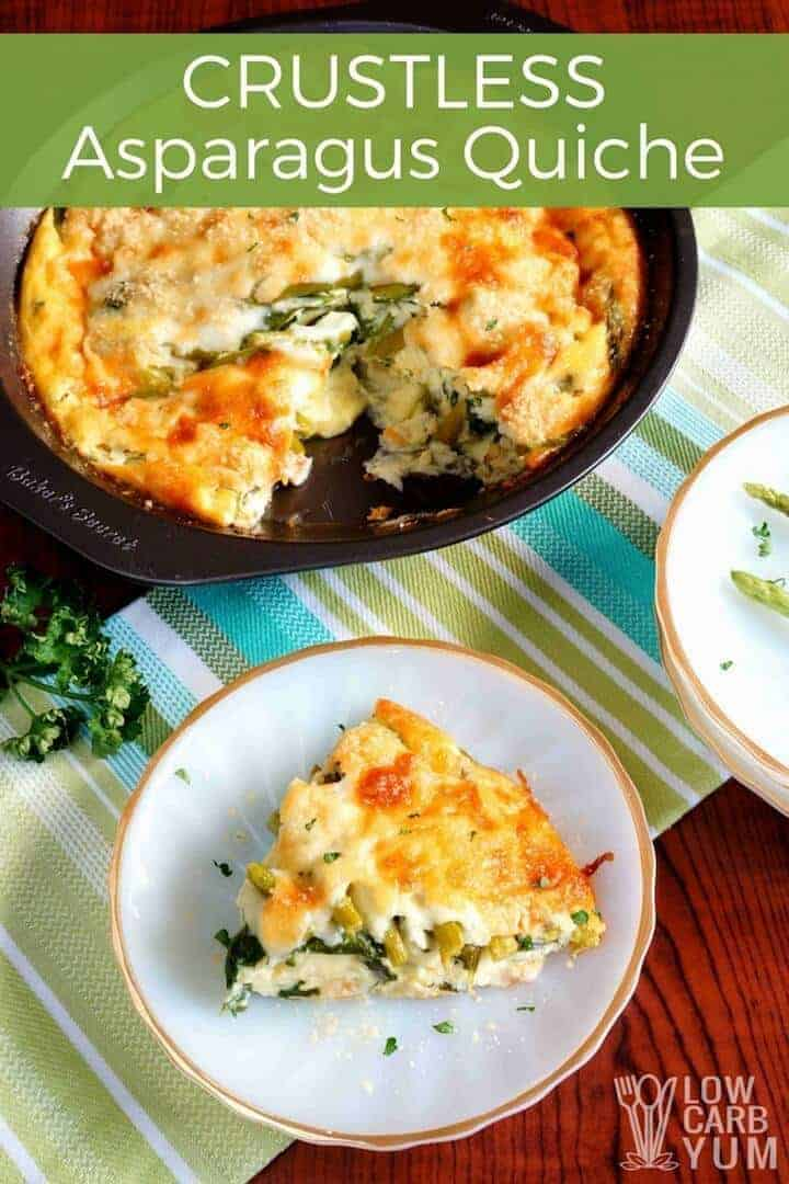 Low carb crustless asparagus quiche recipe