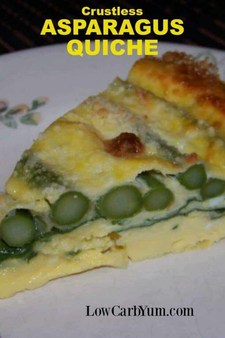 Crustless Asparagus Quiche - Gluten Free | Low Carb Yum
