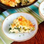 Low carb crustless asparagus quiche slice