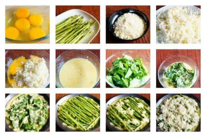 How to make crustless asparagus quiche