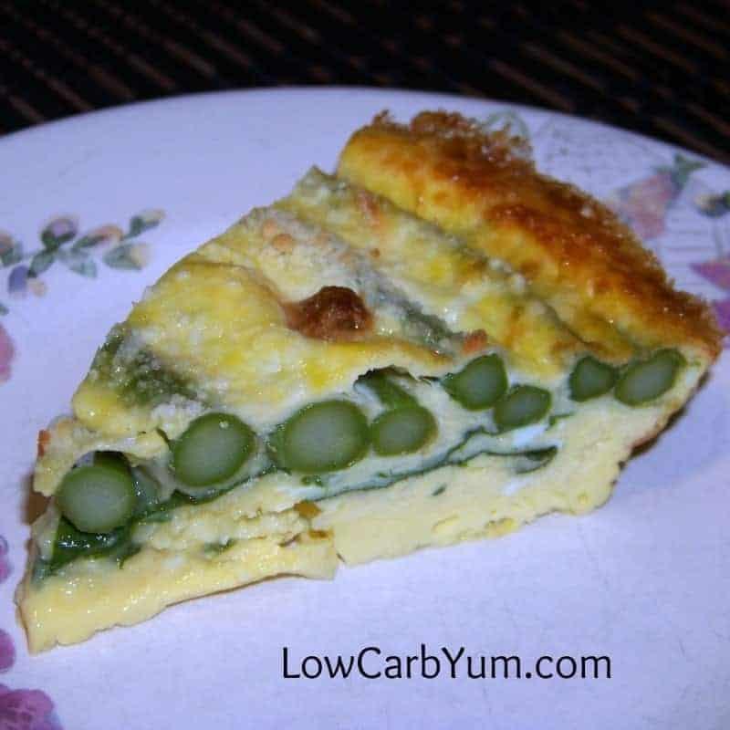 Crustless Asparagus Quiche - Gluten Free | Low Carb Yum