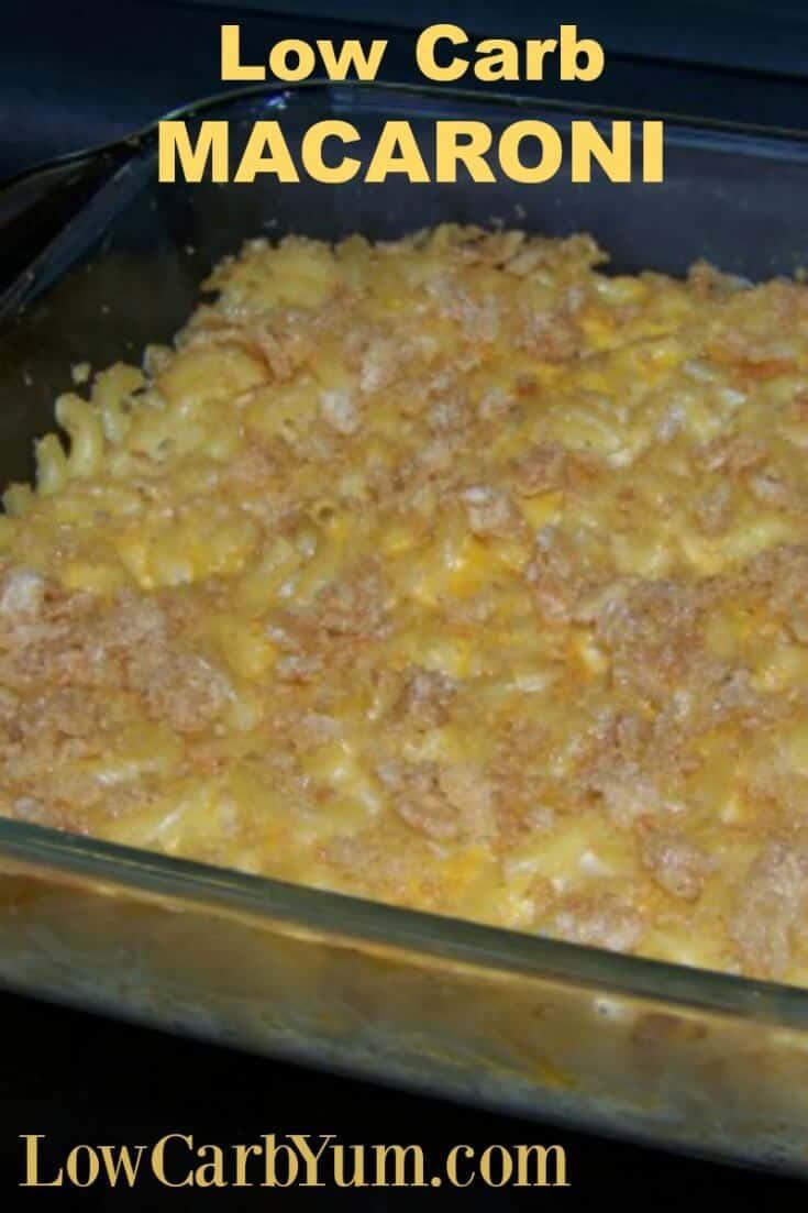 Low carb macaroni
