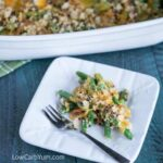 Low carb gluten free green bean casserole
