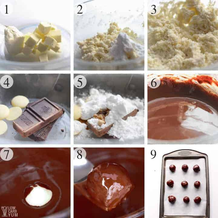 How to make chocolate covered candy with buttercream filling