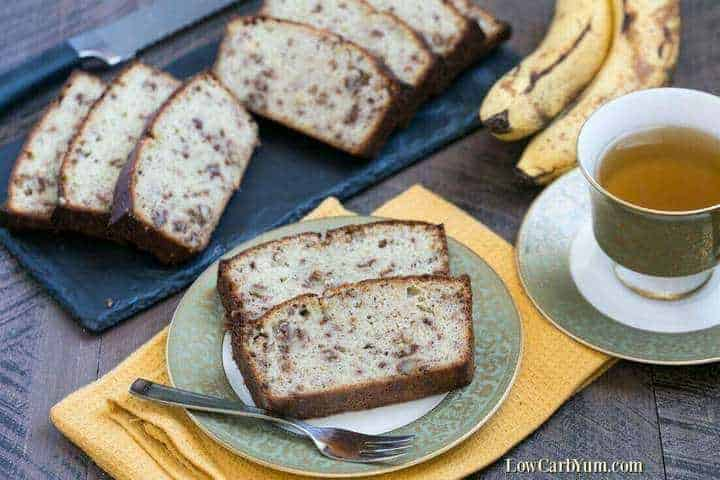 Keto low carb banana bread recipe