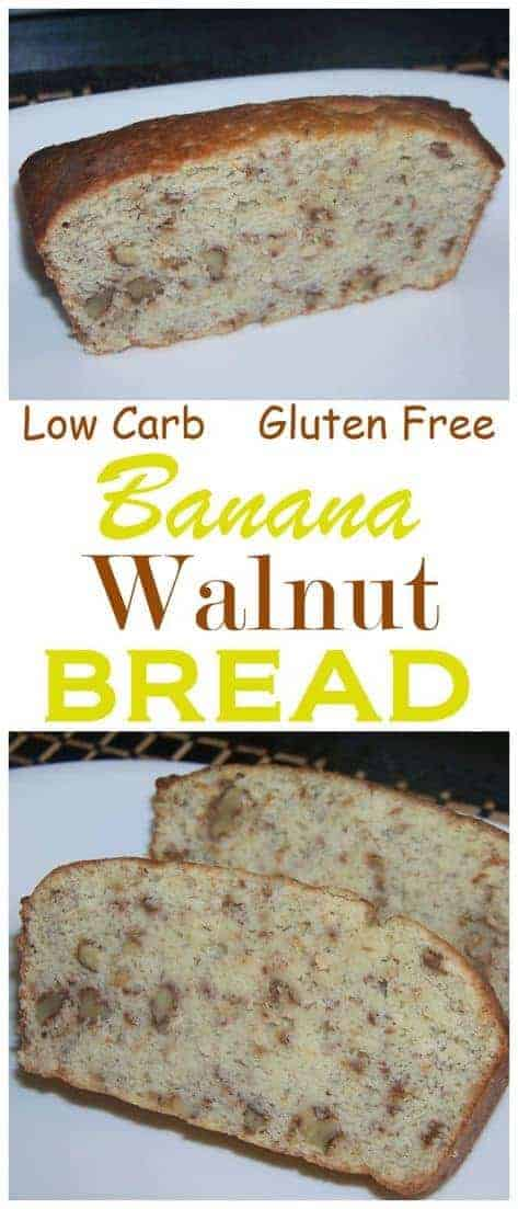 A delicious low carb banana bread that uses real fruit in a moderate amount to keep carbs low. Each slice only has about 5 grams of net carbs.
