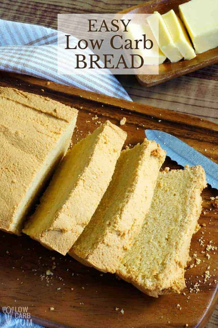 Quick Keto Low Carb Bread Recipe - Gluten Free | Low Carb Yum
