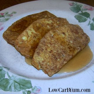 Low Carb French Toast with Cinnamon – Gluten Free