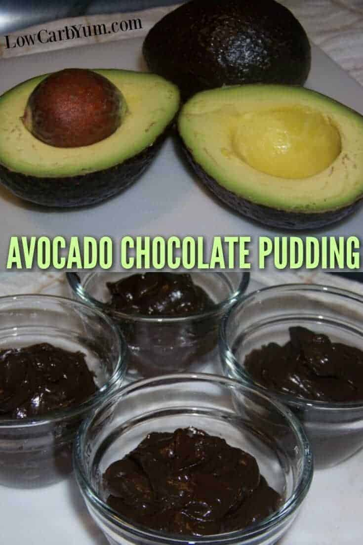An easy paleo dark chocolate avocado pudding recipe that tastes great. It's a tasty way to sneak in some healthy fat into the diet. #paleo #lowcarb #pudding | LowCarbYum.com