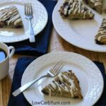 Low carb blueberry coconut flour scones