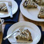 Low carb blueberry coconut flour scones