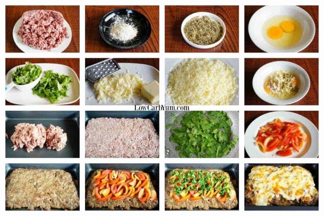 Meatza pizza collage