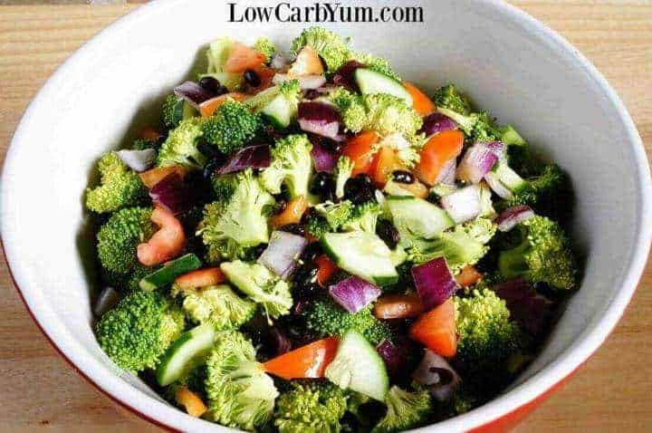 Cucumber broccoli salad