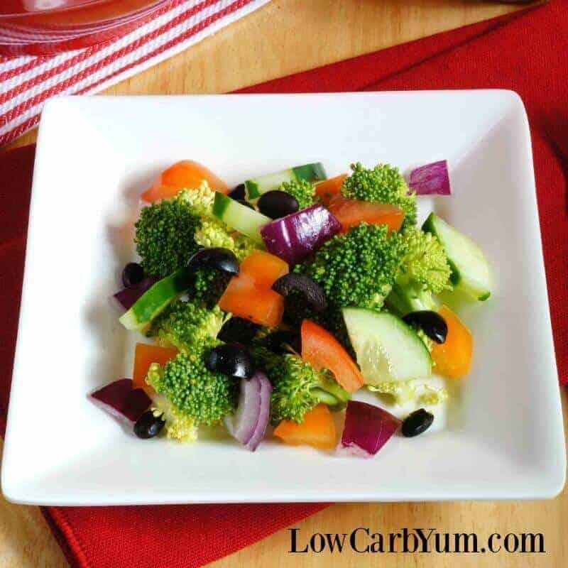 Cucumber broccoli salad