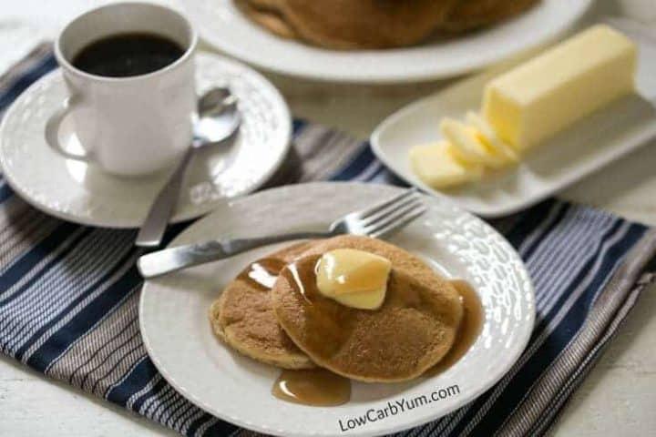 Low carb gluten free almond flour pancakes