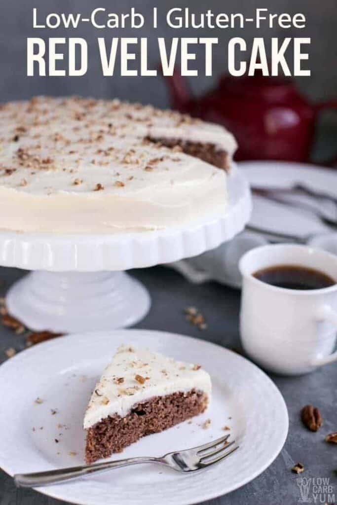 Sugar free gluten free red velvet cake cover image