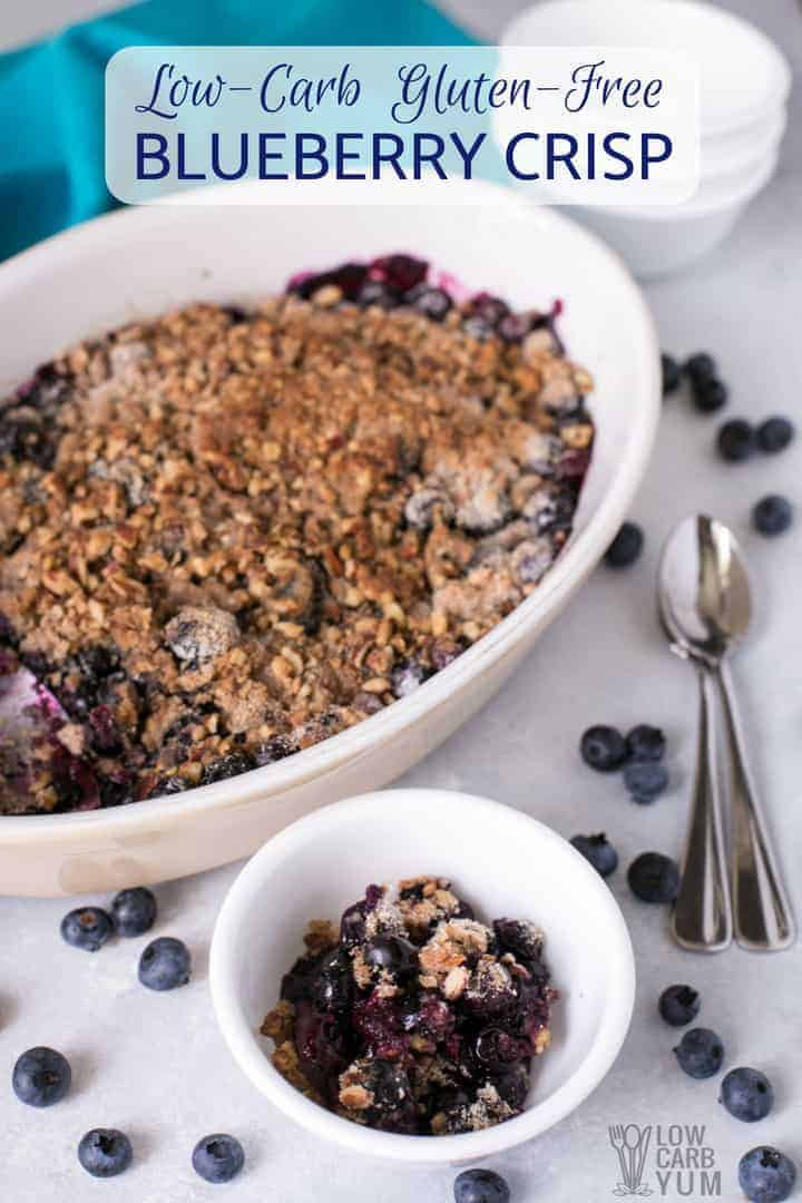 Easy and healthy gluten free blueberry crisp
