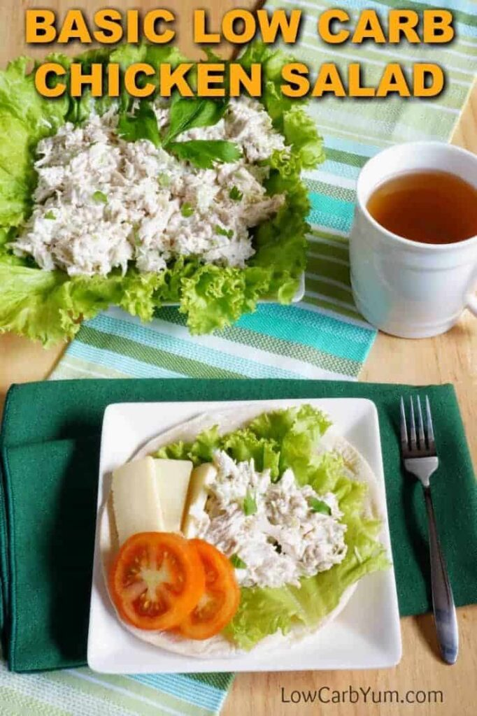 Basic low carb chicken salad gluten free low carb yum a basic low carb chicken salad recipe thats quick to make you can add other forumfinder Choice Image