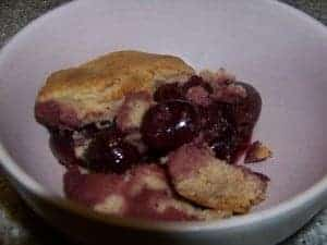 low carb cherry cobbler