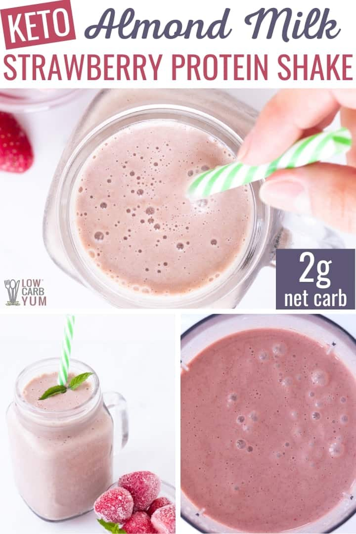 almond milk strawberry protein shake