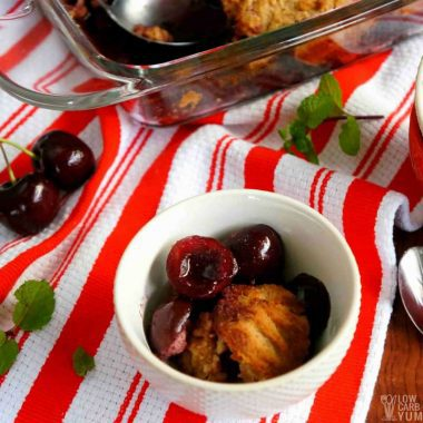 Gluten Free Cherry Cobbler Recipe